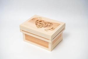 出産祝いレーザー茶箱-1ks(名入れ可能)
