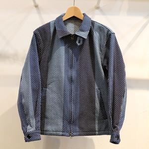 KUON(クオン) カツオ縞藍染刺し子 ドリズラージャケット