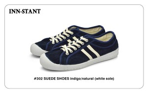 #302 SUEDE SHOES indigo/natural (white sole) INN-STANT インスタント