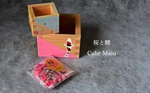 桜茶付きの枡 家で楽しむ家カフェ