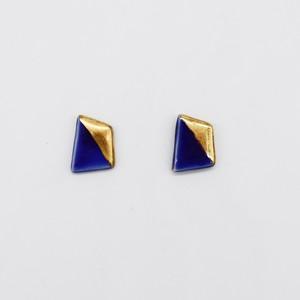【eb2】色釉 BLUE イヤリング/ピアス/ノンホールピアス/マスクピアス