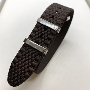 ジュビリー シングルパス(引き通し) ナイロンストラップ ブラウン 20mm 腕時計ベルト