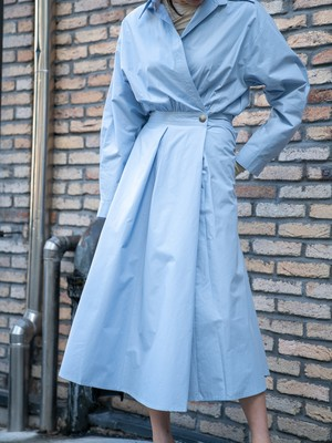 【WOMENS - 1 size】CROSS SHIRT DRESS / 2colors