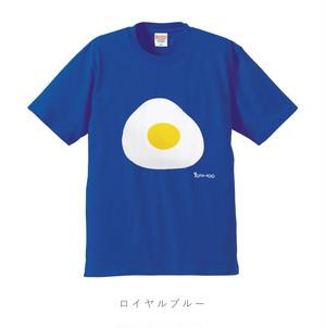 目玉焼きTシャツ  ロイヤルブルー(受注生産)