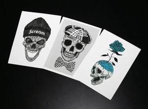 SKULL 2L版 postcard3枚セット