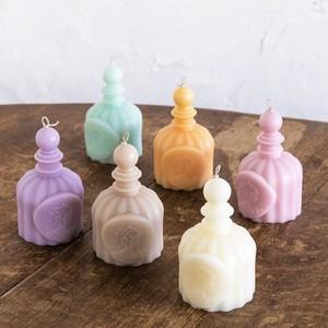自然素材配合の[香水型]のオブジェキャンドル/母の日・お返し・お祝いなどに。ちょっとしたプレゼントにも♪