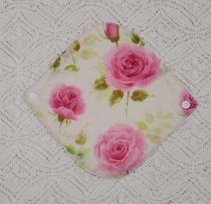 ヘンプコットン布ライナー(ホワイトピンク薔薇)