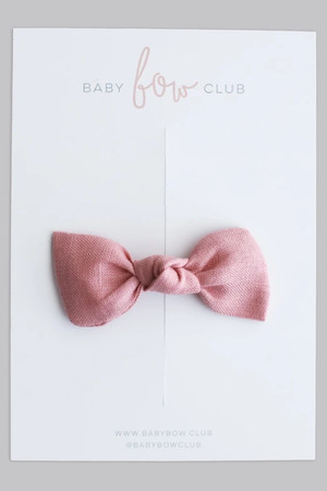 BABY BOW CLUB Sweet Pink Linen// Clip