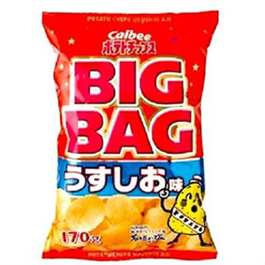 カルビー ポテトチップス BIGBAGうすしお 170g