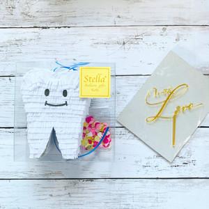 『happy tooth』mini piñata  +  kirakira topper set