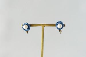 marble 露草色のイヤリング