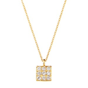 K18YGダイヤモンドネックレス 020201009412