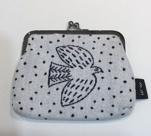 松尾ミユキ Mini purse Bird white