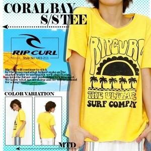 U03-211 リップカール Tシャツ レディース 女子トップス 人気 ブランド おすすめ 旅行 プレゼント 半袖 かわいい オリジナル デザイン RIP CURL