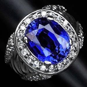 大粒6.2ctと豪華なデザイン! サファイア リング 指輪 14号 アフリカ産