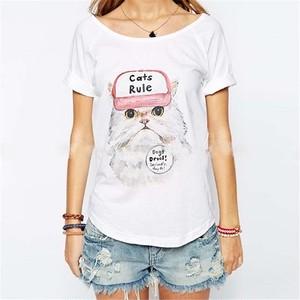 「Cats Rule」白猫Tシャツ
