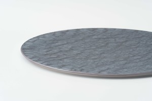 AP) 銀結晶釉 26cm 平プレート