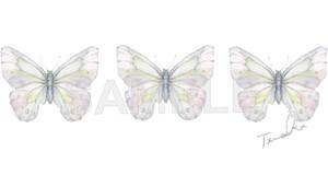 小さな蝶々のタトゥーシール