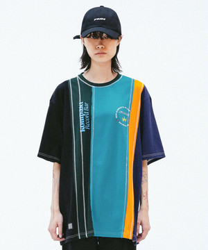 【7月頭入荷】[FMK x KOMPACKT] MULTI MIXED CUT T-SHIRT 1 - EMERALD GREEN