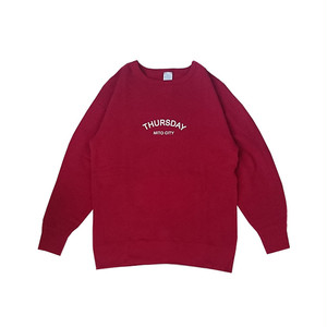 THURSDAY - ARCH CREW NECK SWEAT (Red Pepper)