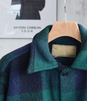 VINTAGE 60s WOOL JACKET -MADE in USA-