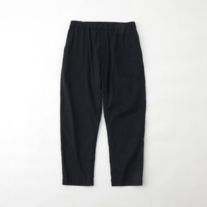 TWILLED JERSEY 3 TUCKED TAPERED PANTS - NAVY