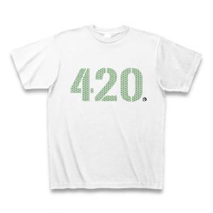 """""""420""""  大麻 Tシャツ グリーン"""