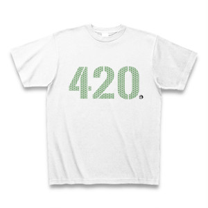 """420""  Tシャツ グリーン"