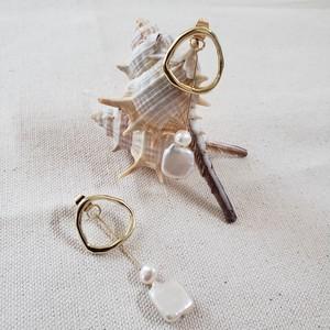 ポストsilver925 Circle pearl pierce (サークルパールピアス)