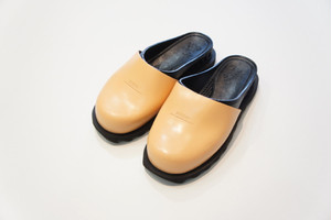 BENSAN-D SABOT SHARK SOLE -BLACK×TAN- / bench