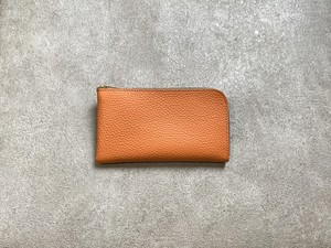 """SHOZO Wallet (soft shrink) : Orange * Won Grand Prix of the small leather article category in """"Asia Pacific Leather Fair 2019"""""""
