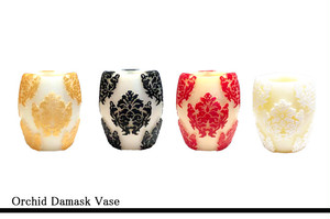 Orchid Damask Vase
