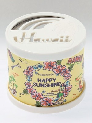 【kahiko/カヒコ】ギフトに人気!ハワイアンフレグランスジェル  香り缶 ハッピーサンシャイン