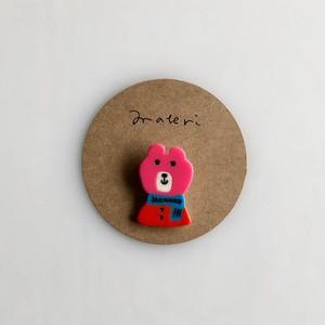 matei アクリルブローチ(ミズノマサミ)  Bear-A