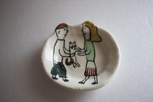 室井雑貨屋(室井夏実)|豆皿 ボクとワタシと猫