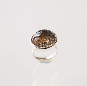 bolRING / garden quartz (silver)