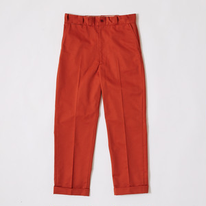 【FILL THE BILL】《MENS》WORK TAPERED PANTS - ORANGE