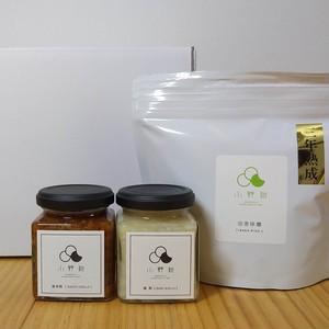 かわいい箱入り!天然醸造三年熟成田舎味噌と糀調味料セット
