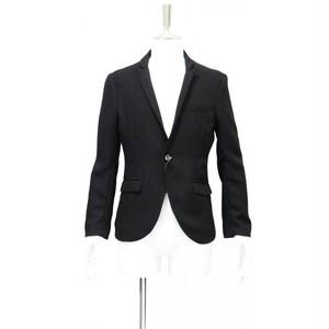 ジャケット メンズ スーツ フォーマル ブランド テーラード ジャケット 黒 ブラック シングル ジャケット メンズ カジュアル Sサイズ 44