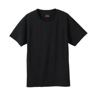 (ヘインズ) Hanes HM1-EN701K 2P ビジカジ魂 CREW NECK T‐SHIRT【2枚組】クルーネックTシャツ BLACK
