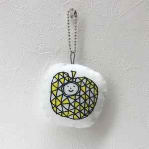 にぎにぎーず014 : ダイヤモンドのリンゴさん (80mm x 70mm 厚さ20mmくらい)