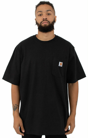 CARHARTT(Tシャツ)Workwear Pocket T-Shirt Black カーハート(K87)5291-Black