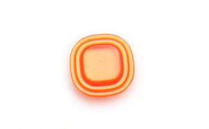 ヴィンテージ・オレンジスクエアボタン