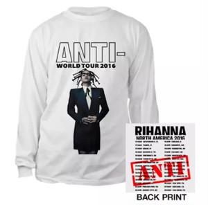 "RIHANNA ""ANTI-TOUR LOGSLEEVE TEE"""