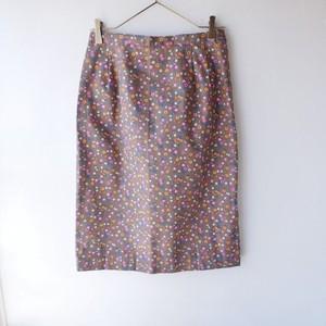70s U.S.A. vintage flower skirt