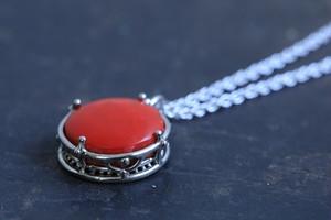 赤珊瑚(染色)の首飾り