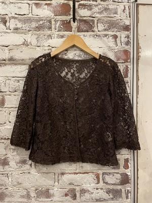 (LOOK) flower lace cardigan