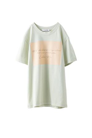 メッセージロゴTシャツ <ペールグリーン>