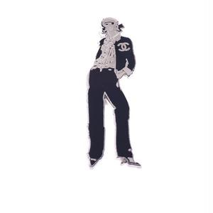 CHANEL/シャネル ココシャネルモチーフピンバッチブローチ ブラック×シルバー(50213)