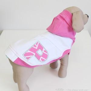 【SS~L】犬服 ツートーンデニムパーカー 4018